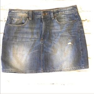 Gap jean distressed skirt